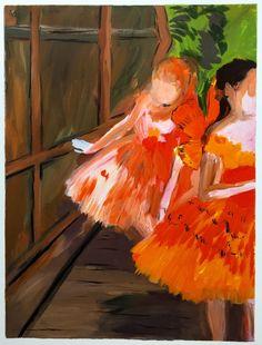 Karen Kilimnik, 'Dancers in the Wings, moths, Paris Opera, Degas,' 2007, Stefan Hildebrandt Gallery