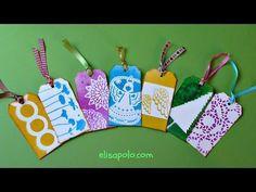 DIY, Cómo hacer Etiquetas para Regalo, Stencil Gift Tags, Como hacer Tags - YouTube