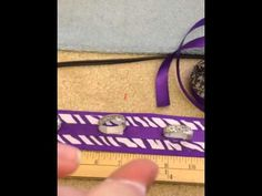 DIY Cheer Bow holder Backpack Strip - YouTube                                                                                                                                                                                 More