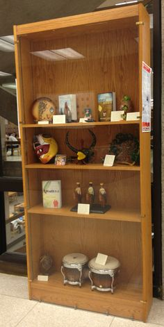 Display in the library for Latino/Hispanic Heritage Month. My map of Cuba will soon be added to the display.