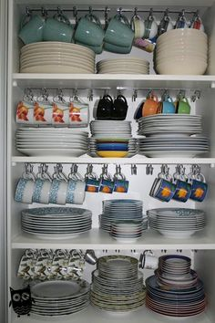 kitchen storage ideas, tableware storage ideas, storage solution or kitchen – organization Kitchen Organization Pantry, Home Organisation, Diy Kitchen Storage, Kitchen Drawers, Organization Ideas, Kitchen Cabinets, Organized Kitchen, Kitchen Sink, Cupboard Shelves