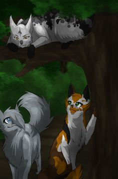 Ashfall (In tree), Leafsong (Bottom right), Sagepuddle (Next to Leafsong)