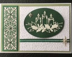 Made using:Sue Wilson for Creative Expressions Snowflake mini striplet,Memory Box Glowing Candles die,Crafters Companion Vintage Christmas embossing folder