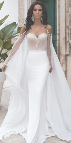 21 Strapless Wedding Dresses For A Queen ? strapless wedding dresses sheath with illusion sleeves with cape naviblue ? : 21 Strapless Wedding Dresses For A Queen ? strapless wedding dresses sheath with illusion sleeves with cape naviblue ? Queen Wedding Dress, Wedding Dress Trends, Dream Wedding Dresses, Bridal Dresses, Wedding Gowns, Bridesmaid Dresses, Dresses Dresses, Thai Wedding Dress, Princess Wedding