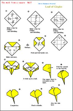 Origami And Quilling, Origami And Kirigami, Paper Crafts Origami, Origami Leaves, Origami Flowers, Diy And Crafts Sewing, Diy Crafts, Origami Diagrams, Modular Origami