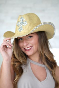 Sequin Cross Cowboy Hat