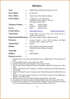 484fb561c6b64f021944dcc85c91e43b Job Application Biodata Format on