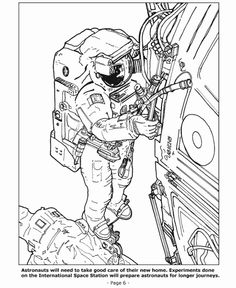 Space coloring pages - Living and working in space | Anatomy ...