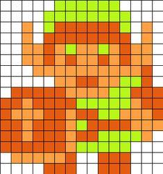Link_8bit_from_the_legend_of_Zelda by Menno87 on Kandi Patterns