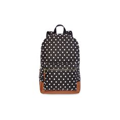 Olsenboye Dot Backpack (£11) ❤ liked on Polyvore featuring bags, backpacks, structured top handle bag, backpacks bags, fake bags, day pack backpack and zip top bag