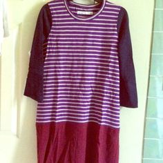 Madewell high line stripe dress new size M Brand new. Color: navy, purple, wine red.. Very cute! Not my size, got another same dress in small. Madewell Dresses