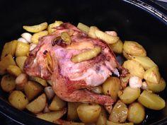 Lemon chicken with garlic mjam mjam