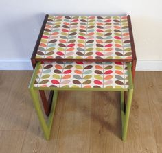 G Plan Mid Century Nest of Tables Upcycled by SarahWilsonDesign
