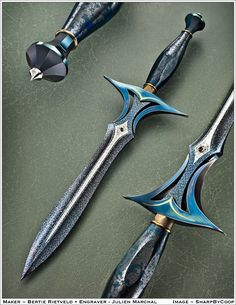 Mystique - Weapon from Lady Nike Pretty Knives, Cool Knives, Swords And Daggers, Knives And Swords, Armas Ninja, Medieval Weapons, Steampunk Weapons, Sword Design, Best Pocket Knife