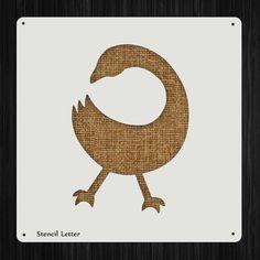Sankofa Bird Style 146, DIY Plastic Stencil Acrylic Mylar Reusable