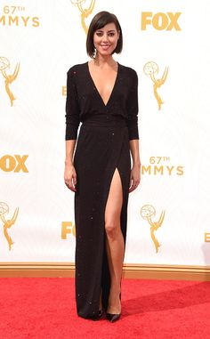 Aubrey Plaza in Alexandre Vauthier at the 2015 Emmys