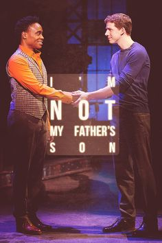 Kinky Boots. Stark Sands and Billy Porter.