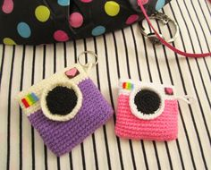 Instagram inspired crochet coin purse. Free pattern!!