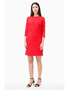 Previous  Lace Tunic  Lace Tunic  Lace Tunic  Lace Tunic  Lace Tunic  Lace Tunic Next  LACE TUNIC  165 €  Reference:  F7A155 17110  Stretch Lace Tunic, 3/4 sleeves, boat neck. Lined. Model shown is 177 cm wearing a size Small. Made in Italy