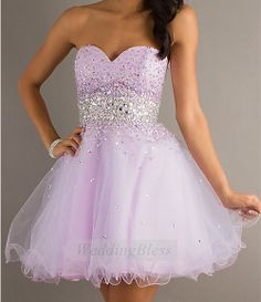 Strapless Prom Dresses Lilac Prom Dress Sweetheart by WeddingBless, $98.00