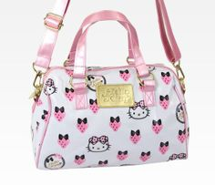 I found 'Hello Kitty Boston Bag W/ Carry Strap: Strawberry' on Wish, check it out!