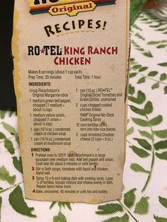 Entree Recipes, Mexican Food Recipes, Cooking Recipes, King Ranch Chicken Casserole, Great Recipes, Favorite Recipes, Leftover Chicken Recipes, Comida Latina, Winner Winner Chicken Dinner