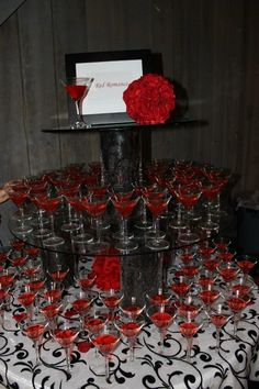Red Signature Drink display by Swan's Landing Catering, Campbellsville Ky
