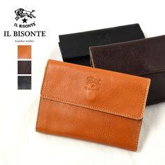 バッグ・小物・ブランド雑貨 レディース財布 二つ折り財布(小銭入れあり) ア行 イルビゾンテ IL BISONTE レザーウォレット