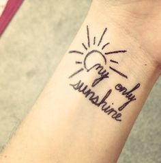 I like the words with the sun. I'd use different words though.