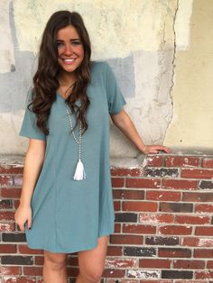 fortuityinc - With a V T-shirt dress, $33.00 (http://www.fortuityusa.com/with-a-v-t-shirt-dress/)