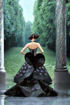 Dior black gown