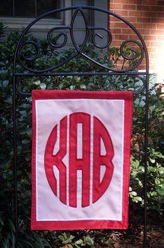 Monogrammed Garden Flag by MonogramsEtcNC on Etsy, $48.00