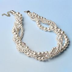 Tradition Twisted Pearl Necklace - Chunky necklaces