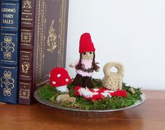 Fairy Garden Miniatures Tabletop Terrarium by GreenbriarCreations