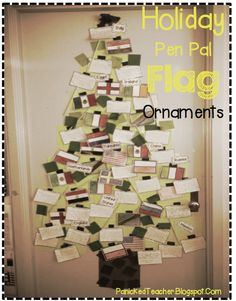 Build a Multi-Cultural ornament tree in your room this year! Kids LOVE it!!