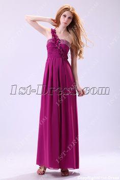 Charming Fuchsia Chiffon Pregnant Club Dress:1st-dress.com