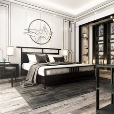 New Chinese Style Bedroom 21324 Model available on CGmodelX, High quality Produced by Design Connected. Modern Elegant Bedroom, Elegant Home Decor, Luxury Home Decor, Elegant Homes, Modern Room, Living Room 3ds Max, Modern Chinese Interior, 3d Max Vray, Round Beds