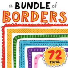 We have oodles of hand-drawn borders. Mix, match, layer, and resize into countless combinations. This includes our border collections: Delightful Dots Border Set Curly Q Border Set Stripes n' Scallops Border Set This set includes: Classroom Organisation, School Organization, Classroom Management, Teacher Resources, Teaching Ideas, School Classroom, Back To School, Mix Match, Clip Art