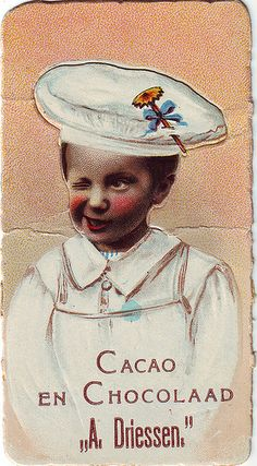 chromo cacao driessen - cut-out boy winking   Flickr - Photo Sharing!
