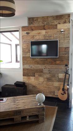Mur en bois de palettes