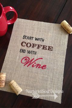 Coffee and Wine Kitchen Decor/ Coffee and by NurturedSoulDesigns, $11.00