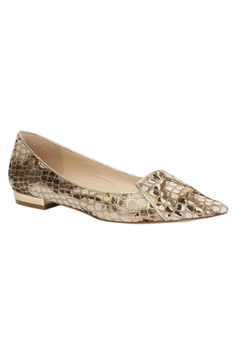 Lysander Gold Flat by Lucy Choi London. Shop now at www.lux-fix.com