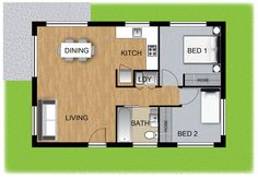 View Granny Flat 3D Plan Panel Homes … ~ Great pin! For Oahu architectural design visit http://ownerbuiltdesign.c