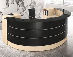 Round Reception Desk 1 http://vaughanofficefurniture.com   Call us for great deals! 905-669-0112