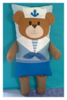 Naninha urso marinheiro personalizado