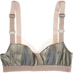VPL Disjoin Bra (130 CAD) ❤ liked on Polyvore featuring intimates, bras, lingerie, underwear, women, lingerie bras, vpl bra, metallic lingerie, vpl lingerie and adjustable bra