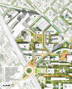 Sasaki Associates - Regeneracion A vision for the Campus and District Landscape Concept, Landscape Plans, Urban Landscape, Landscape Design, Urban Design Concept, Urban Design Diagram, Urban Design Plan, Masterplan Architecture, Architecture Plan