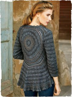 Mandala Pima Cotton Cardigan. <3 the design across the back and the way it skirts along the bottom. Lovely.
