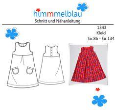 Ein wunderschönes und mädchenhaftes Kleid die Gr. 86-134.  Zum Spielen, Toben und Spass haben. Für jedes Mädchen als  Kleid ein Muss.  Es ist schnell genäht.  Du bekommst eine ausführliche...