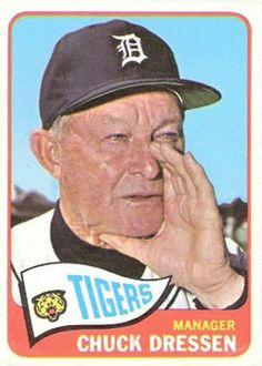 1965 topps in Sports Memorabilia Cards Baseball Manager, Pro Baseball, Baseball Players, Detroit Sports, Detroit Tigers Baseball, Detriot Tigers, National Baseball League, Old Baseball Cards, Trading Card Database